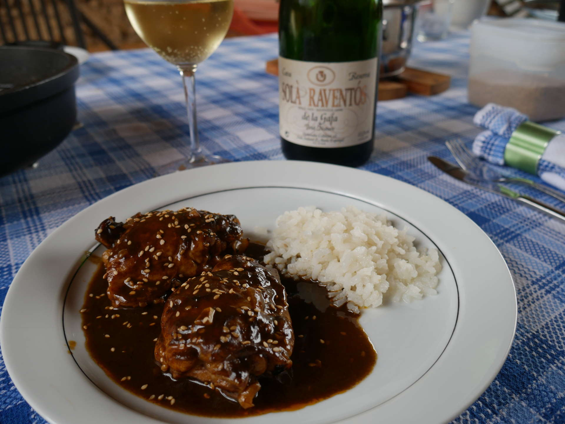 """Mole Oaxaqueño"" of Chicken with Cava"